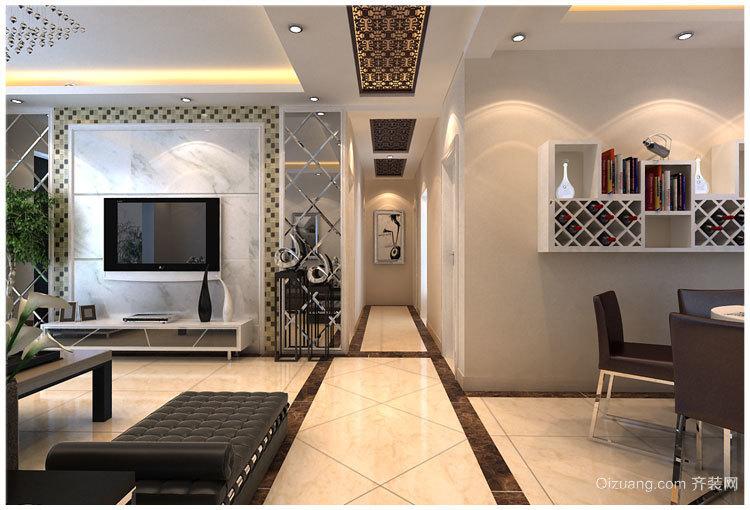 120平米大户型客厅酒柜背景墙装修设计效果图