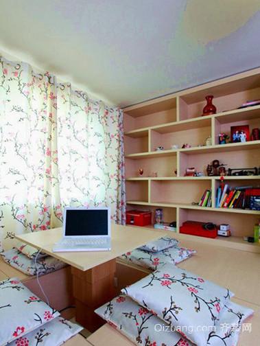 榻榻米中小户型现代日式风格书房设计装修效果图