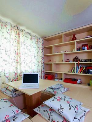书房榻榻米组合书柜