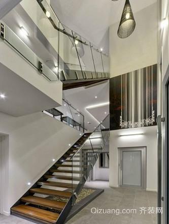 别墅楼梯扶手装修效果图