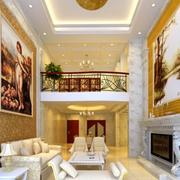 复式楼大型客厅展示