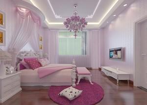 粉色甜美卧室欣赏