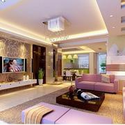 客厅紫色沙发展示