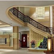别墅楼梯铁艺扶手欣赏