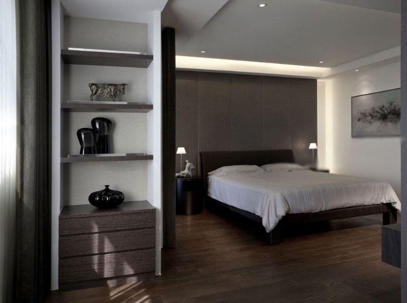 90平米简约卧室 床头壁灯 背景墙 装修效果图 齐