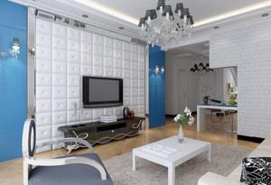 客厅白色简约背景墙