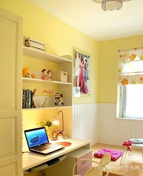 100㎡温馨自然风格儿童房设计装修效果图
