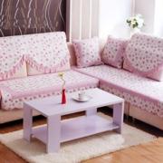 客厅粉色可爱沙发
