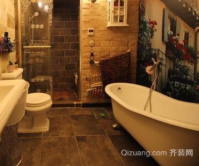两居室美式卫生间装修效果图