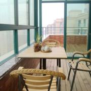 阳台餐桌椅图片