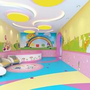 色调鲜艳幼儿园大厅