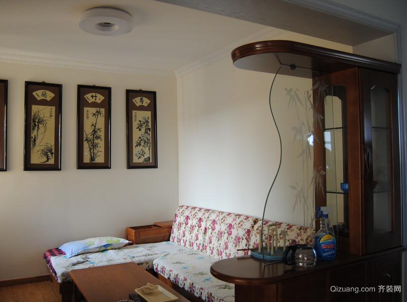 复式楼欧式客厅吧台装修设计效果图