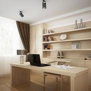 书房原木色书柜