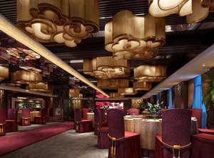 酒店传统中式宴会厅效果图