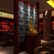 中式韵味的烟酒店