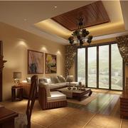 简约东南亚风格客厅