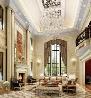 别墅简欧风格罗马柱装修效果图