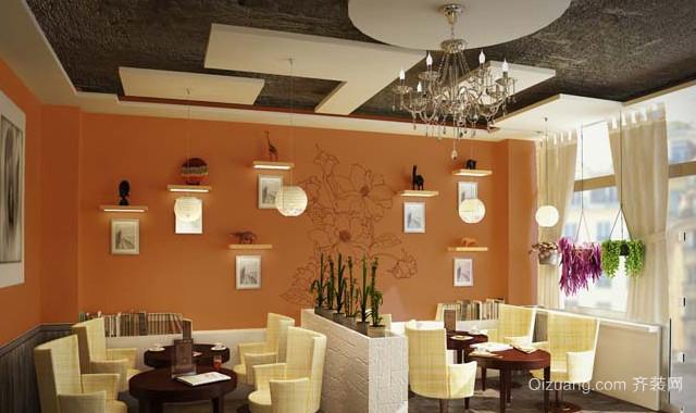 50平米小户型咖啡厅装修设计效果图