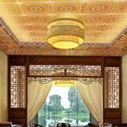 超级豪华客厅中式吊顶