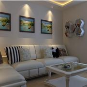 现代简约客厅照片墙