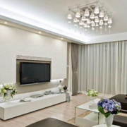 大户型客厅白色背景墙