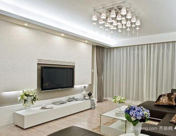 客厅硅藻泥电视背景墙装修效果图