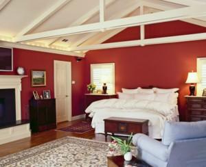美式阁楼卧室吊顶装饰