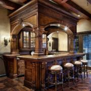 典雅古典厨房吧台