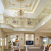 浅色调别墅客厅图片