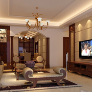 复式楼美欧式客厅