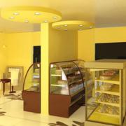 温馨黄色蛋糕店展示