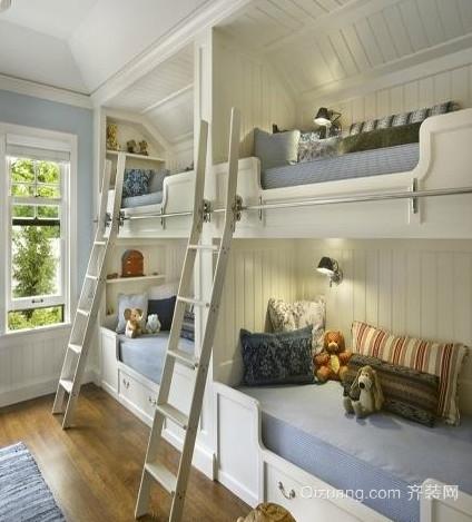 小户型双层床儿童房装修效果图