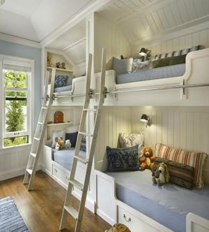 小户型儿童房高低床
