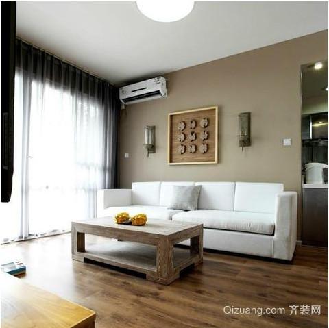 70平两室一厅清新精致小客厅装修效果图