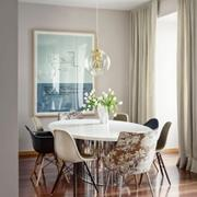 时尚风格客厅窗帘图片