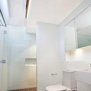 白色干净卫生间设计