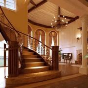 温馨暖色调楼梯