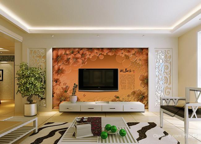 40平米小户型欧式客厅背景墙装修效果图
