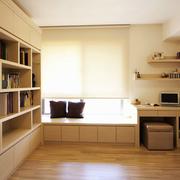 灰色调书柜装修设计