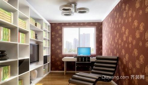100平米现代简约风格书房设计装修效果图
