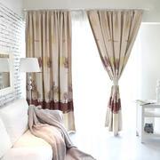 灰色调客厅窗帘图片