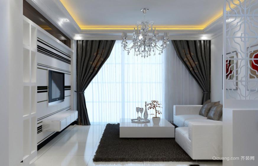 现代客厅吊灯装修效果图