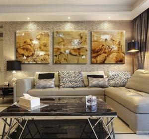 客厅手绘沙发背景墙装修效果图