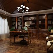 东南亚风情书房效果图