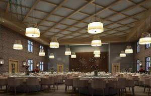华丽欧式酒店宴会厅装修图
