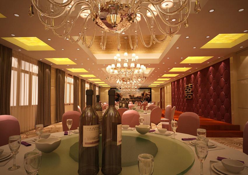 华丽欧式酒店宴会厅装修图-齐装网装修效果图