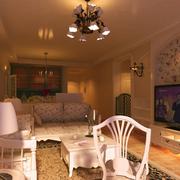 暖色调客厅装修图片