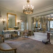 法式风格客厅隐形门装饰
