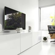 白色调电视柜效果图