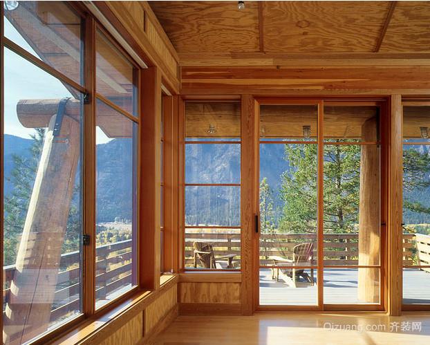 草原上的小木屋别墅设计